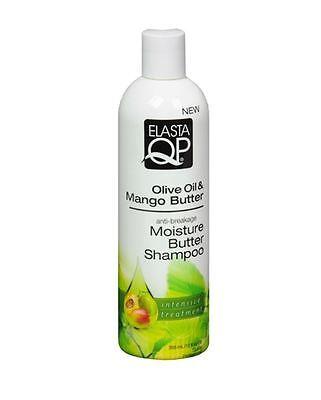 Elasta Qp Moisturizing Shampoo (Elasta QP Olive Oil - Mango Butter Moisture Butter Shampoo, 12)