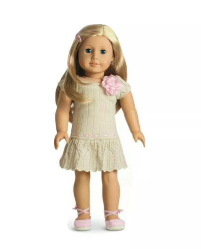 American Girl Doll Sweet Spring Dress Metallic Rose Shoes Dr