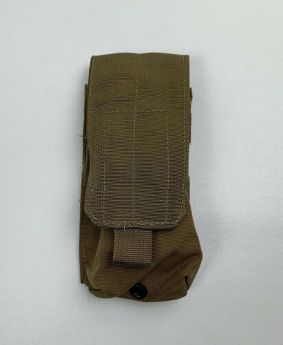New USMC Marine Corps Single Double Mag Pouch Coyote MOLLE NSN 8465-01-516-8370
