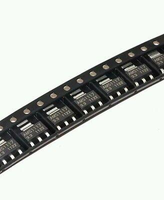 10 Pcs Ams1117 Lm1117 3.3v 1a Voltage Regulator Sot223 Usa Seller
