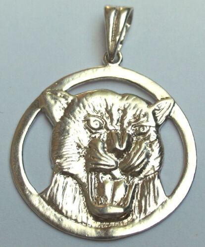 Pendant STERLING Silver 925 Tiger LION Animal GIFT Brutal JEWELRY Ukraine
