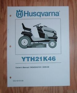 husqvarna lawn tractor yth21k46 owners manual with parts. Black Bedroom Furniture Sets. Home Design Ideas
