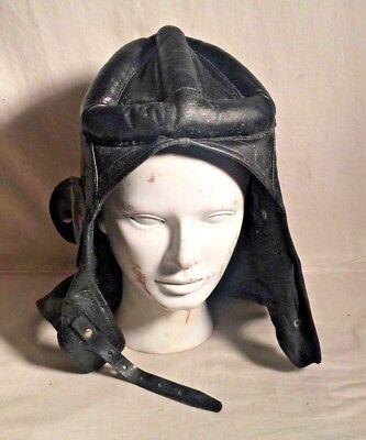 PIECE OF CRAP Stocko German Swedish Swiss WWI tank Pilot Leather Padded Hat CAP