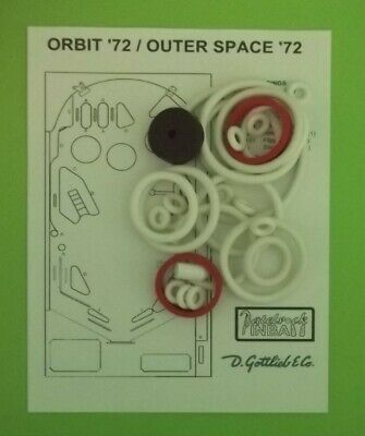 Gottlieb Rubber Ring (Gottlieb Orbit  / Outer Space  pinball rubber ring)