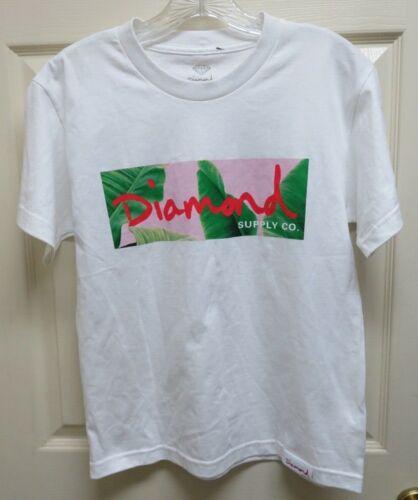 "Diamond Supply Co .""Palms Box"" White w/Graphics Boy's L T-Shirt NWOT"