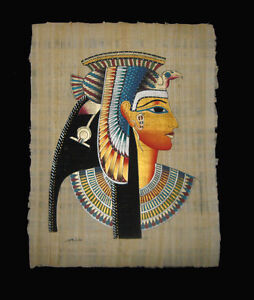 Egyptian-Papyrus-genuine-hand-painted-Cleopatra