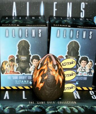 Flaming Egg 2/18 - Aliens The Game Over Collection Titans Vinyl Figures  - Egg The Game