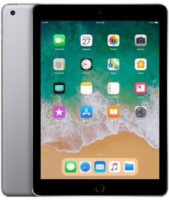 "Apple iPad 2018 Wi-Fi 128GB MR7J2 9.7"" IOS11 Tablet NEU OVP - Space Grau"