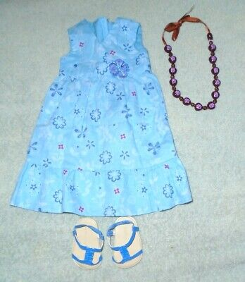 American Girl KANANI'S Meet outfit, dress, shoes, necklace