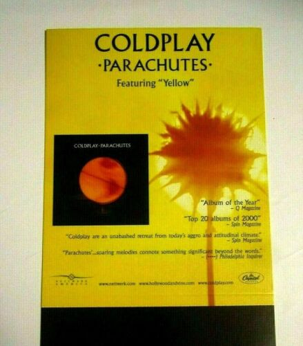 Coldplay 2000 Parachutes Counter Stand Up Display