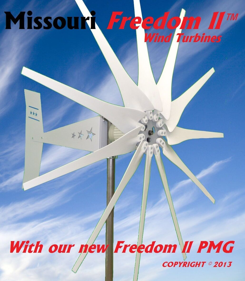 missouri dom ii 24 48 volt 2000 watt max 11 blade wind turbine missouri wind and solar