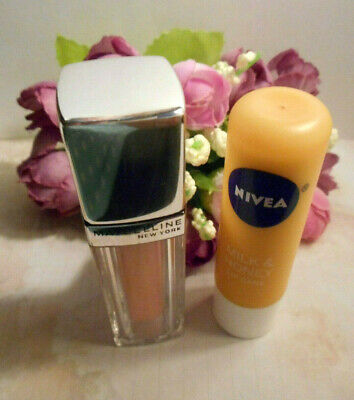 3 items;1-Maybeline lipstick Enthraling Nude & 2 lip care/balm,Nivea & Avon