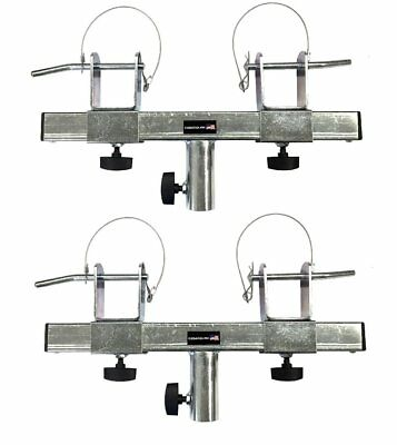 Two (2) Triangle or Square Truss Adapter Bracket Tripod Crank Light Stand - Truss Bracket