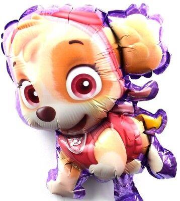 Lila Ballons (R13F7 not Helium balloon Folienballons Baby Hund Skye Lila Paw Patrol Geburtstag)