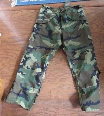 USGI Military BDU Woodland Gore-Tex Camo Pants Cold Weather Med-Regular  EUC