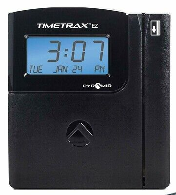 Pyramid TimeTrax EZ TTEZ Automated Swipe Card Time Clock System Serial Open (Pyramid Ttez Automated Swipe Card Time Clock System)