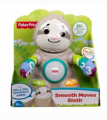 Fisher-Price Linkimals Smooth Moves Sloth Interactive Baby Toy Music Lights NEW