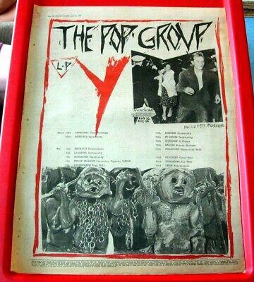 The Pop Group Y/UK Tour Vintage ORIGINAL 1979 Press/Magazine ADVERT Poster-Size
