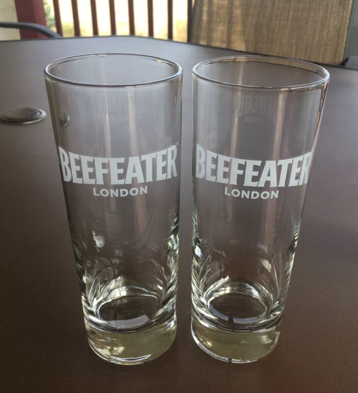 Beefeater London Gin Tall Cocktail Glass Tonic, Tom Collins Collectible Set of 2