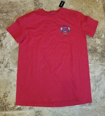 Nwt Nautica Red Short Sleeved T-Shirt Shirt Graphic Tee Captain's Lounge Medium