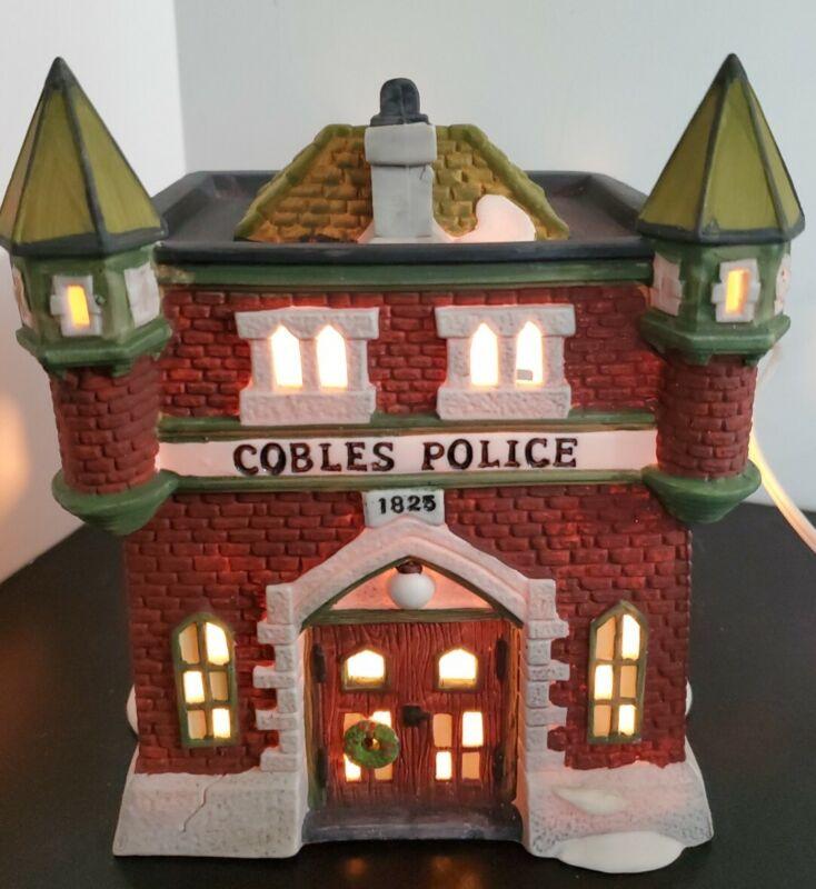 Department 56 Heritage Village Dickens Village Series Cobles Police Station 1989
