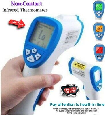 Digital Thermometer Medical Non-contact Body Forehead Ir Infrared Laser