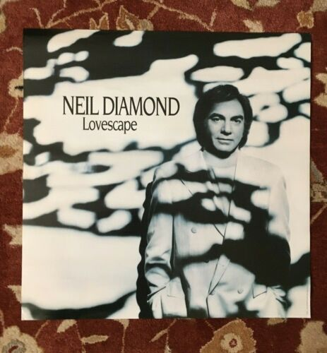 NEIL DIAMOND  Lovescape  rare original promotional poster from 1991