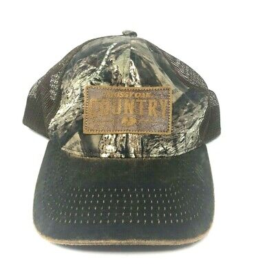 hot sale online d6df1 4fb35 Mossy Oak COUNTRY Camo Patch Logo Hunting Hat Cap, NWOT