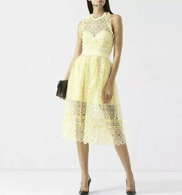 Self Portrait Yellow Lace Midi Dress US8/UK12