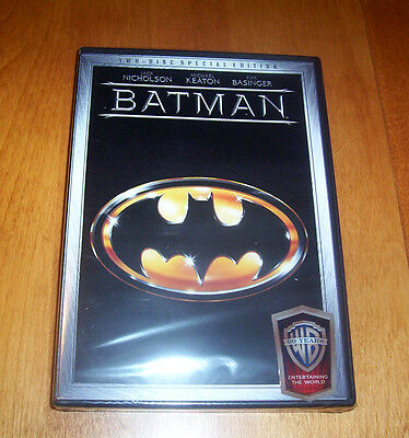 Batman Special Edition Jack Nicholson Michael Keaton Kim Basinger 2 Dvd Set New
