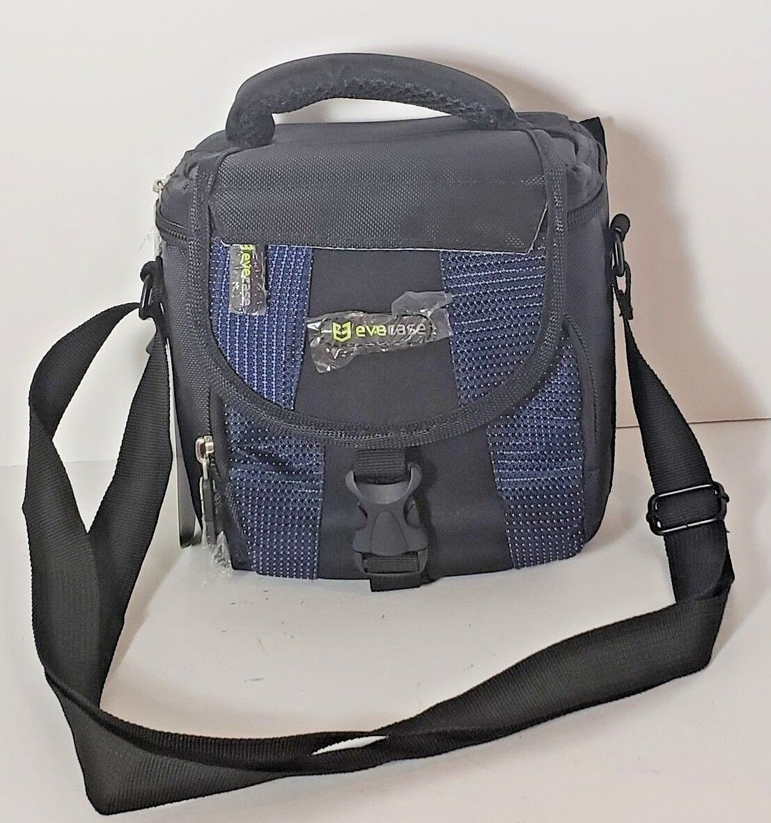 New Evecase Small Camera Bag Adjustable Shoulder Strap Black