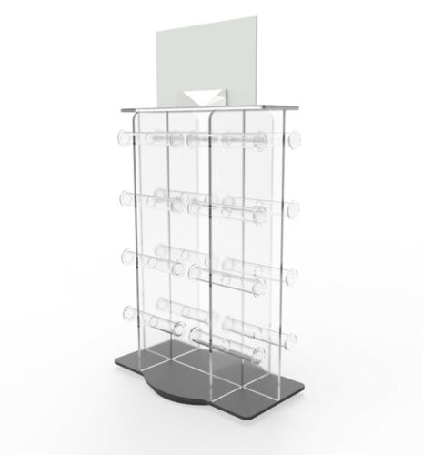 Plexiglass Acrylic 16-bar Bracelet watch jewelry Rotating Spinner display Rack