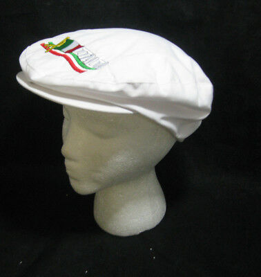 White Newsboy Hat (White Italia Newsboy Cap with Italy Flag Cabbie Hat Adjustable Golf Driving)