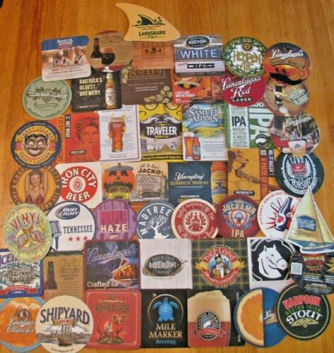 50 New Eastern US Micro & Major Beer Coasters! No Dupes!  Only $12.99!
