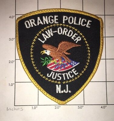 Orange Police Department Patch – New Jersey – Law  Order  Justice -  Vintage