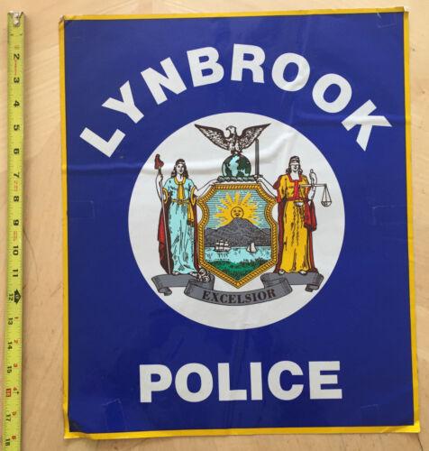 LYNBROOK NY POLICE COP CAR DOOR SHIELD DECAL LONG ISLAND NEW YORK *