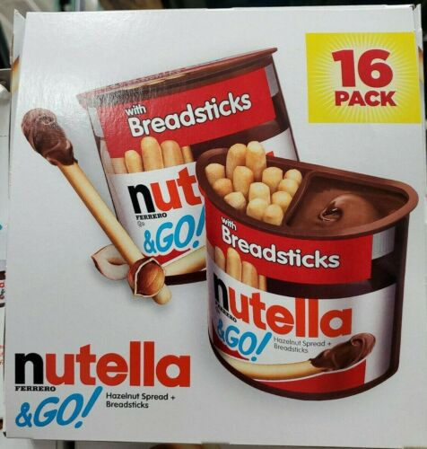 New Nutella and Spread With Breadsticks, 1.8 Ounce (Pack of 16)