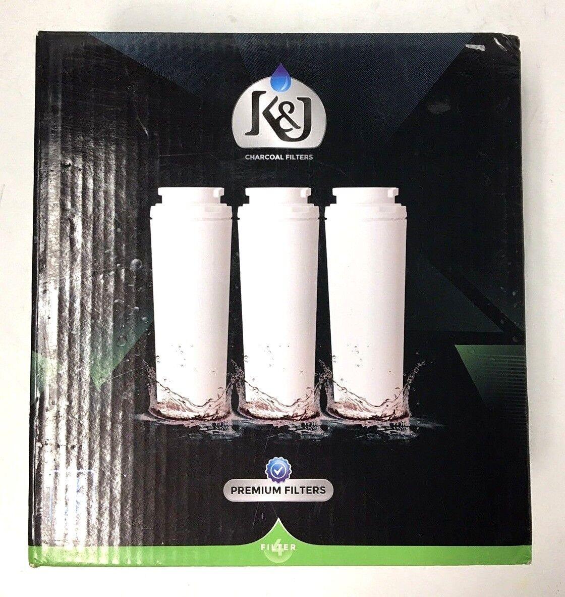 K&J 3 Pack Refrigerator Water Filters-