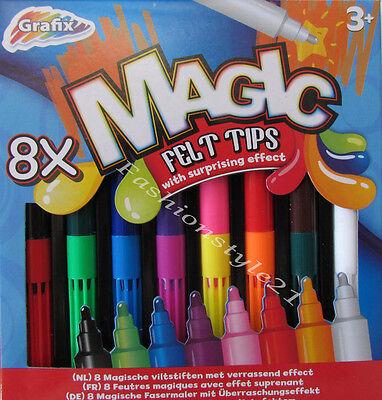 Magic Malzauber 8 Stifte Zauberstifte Magie Pen Fasermaler Kinder NEU