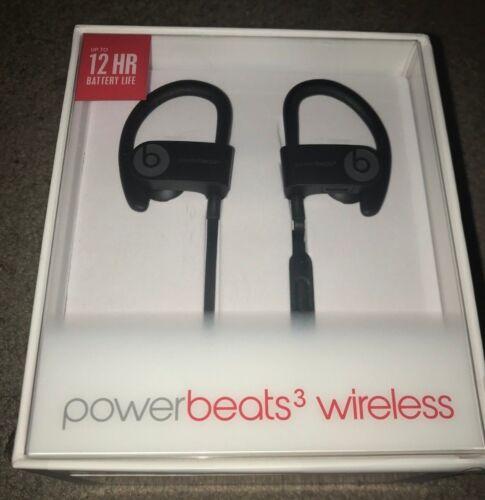 Dre Beats Powerbeats 3 Wireless Ear Hook Bluetooth Headphones - Black