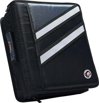 Case It Z-176 1 12 Black 2-in-1 Zipper Binder