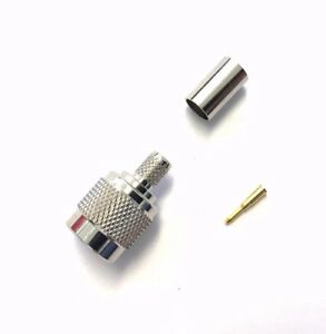 5 Pack TNC Male Plug Crimp RF Coaxial Coax Connector for RG8/X, LMR-240 US Stock