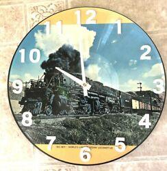 Wyoming  Big Boy TRAIN CLOCK Pic-Veu Clocks USA  USA Seller