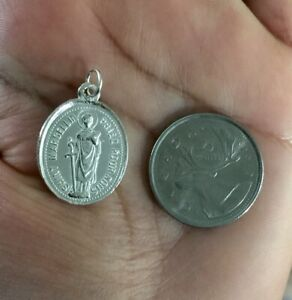 New real sterling silver 925 st saint marcellin pendant charm