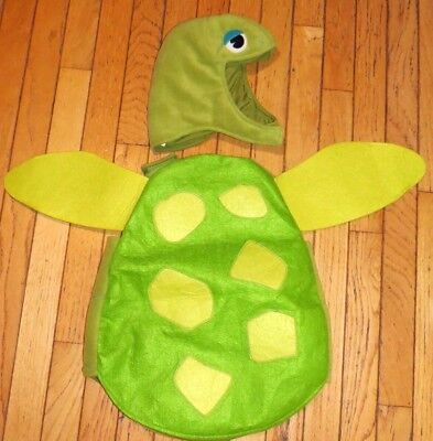 Pottery Barn Kids BABY SEA TURTLE COSTUME Infant Ocean Size 6-12 Mths