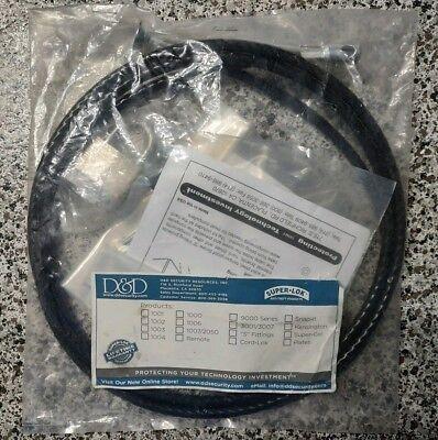 D&D Super-Lok 1000 Loop Key Cable Security Lock Desktop Computer with Anchor Desktop Locking Cable Anchor