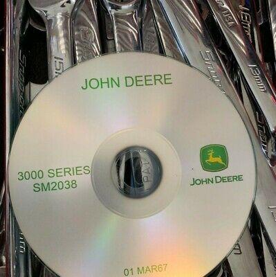 John Deere 3000 3010 3020 Tractors Service Repair Manual Sm-2038 Cd
