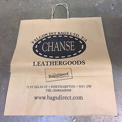 Brown Paper Carrier Bags With Twisted Handles Large - Ex Shop Bargain Box of 100