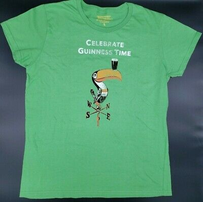 NEW Guinness Vintage Toucan T-Shirt Large