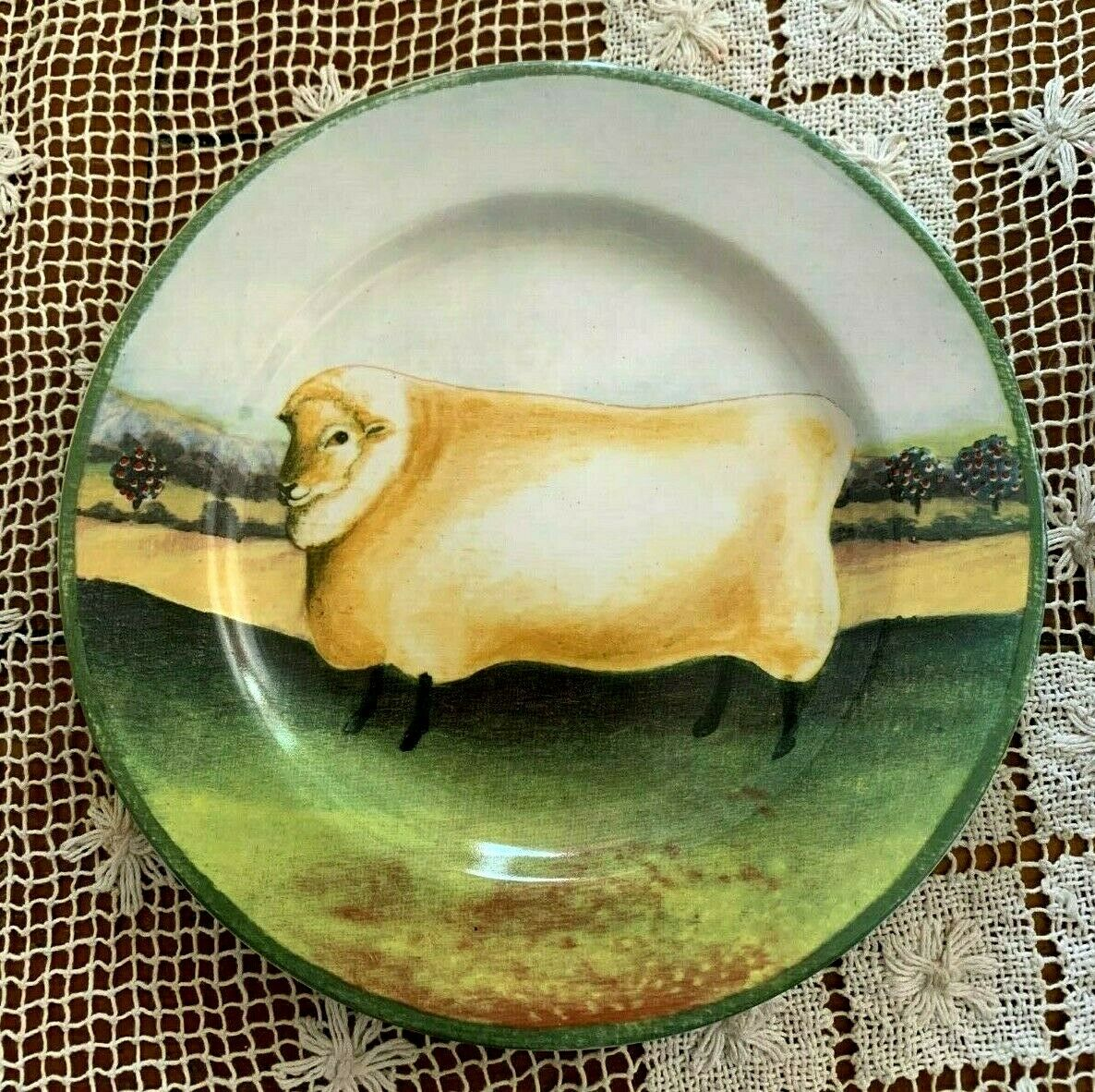 """SHEEP ON A PLATE - BLOCK COUNTRY FARM by GEAR 8"""""""